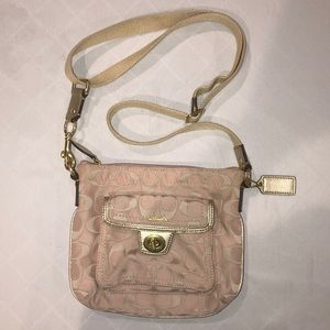 Coach cross body purse with little pouch in front